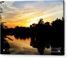 Logan Street Sunset Two Acrylic Print by Tina M Wenger
