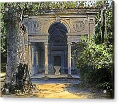 Loggia Of The Muses Acrylic Print by Terry Reynoldson