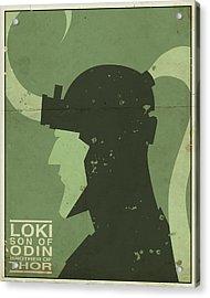 Loki - Son Of Odin Acrylic Print by Michael Myers