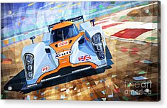 Lola Aston Martin Lmp1 Racing Le Mans Series 2009 Acrylic Print by Yuriy  Shevchuk