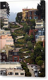 Lombard Street Acrylic Print by David Salter