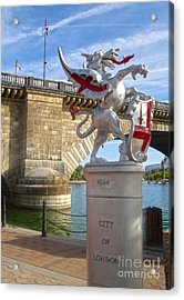 London Bridge Dragon Acrylic Print by Gregory Dyer