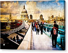 London Of My Dreams - St Paul's Acrylic Print by Mark E Tisdale
