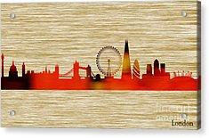 London Skyline Acrylic Print by Marvin Blaine