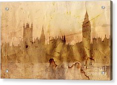 London Skyline Acrylic Print by Michal Boubin