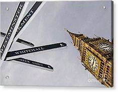 London Street Signs Acrylic Print by David Smith