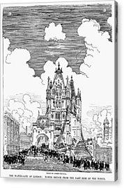 London Tower Bridge, 1900 Acrylic Print by Granger