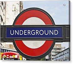 London Underground Acrylic Print by Georgia Fowler