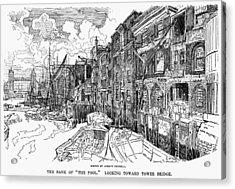 London Waterfront, 1900 Acrylic Print by Granger