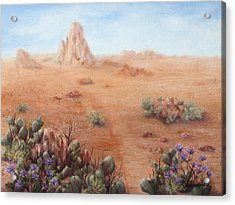 Lone Mesa Acrylic Print by Roseann Gilmore