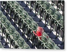 Lone Red Number 21 Fenway Park Acrylic Print by Susan Candelario