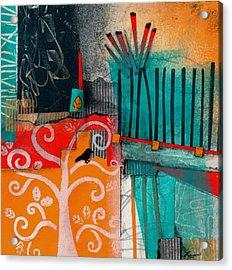 Lonecrow Spirit  Acrylic Print by Laura  Lein-Svencner