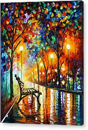 Loneliness Of Autumn Acrylic Print by Leonid Afremov