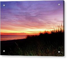 Lonely Beach At Sunrise Norfolk Va Acrylic Print by Susan Savad