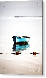 Lonely Boat Acrylic Print by Mark Ruti