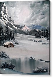 Lonely Cabin Acrylic Print by John Koehler