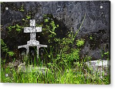 Lonely Grave Acrylic Print by James Brunker