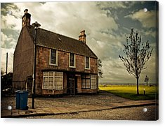 Lonely House On The Shore Of The River Forth. Culross Sketches. Scotland Acrylic Print by Jenny Rainbow