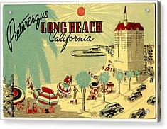 Long Beach 1946 Acrylic Print by Georgia Fowler
