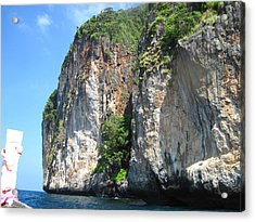 Long Boat Tour - Phi Phi Island - 0113153 Acrylic Print by DC Photographer