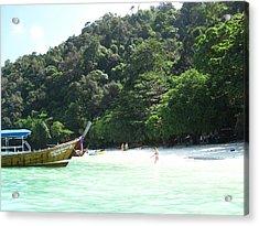 Long Boat Tour - Phi Phi Island - 0113170 Acrylic Print by DC Photographer