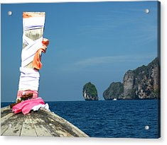 Long Boat Tour - Phi Phi Island - 0113182 Acrylic Print by DC Photographer