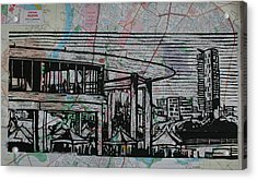 Long Center On Map Acrylic Print by William Cauthern