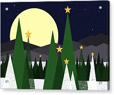 Long Night Moon Acrylic Print by Val Arie