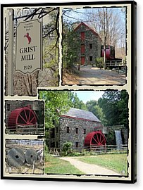 Longfellow's Grist Mill Acrylic Print by Patricia Urato