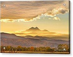 Longs Peak Autumn Sunset Acrylic Print by James BO  Insogna