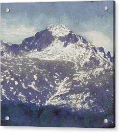Longs Peak Acrylic Print by Dan Sproul