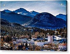 Longs Peak From Estes Park Acrylic Print by Jon Burch Photography