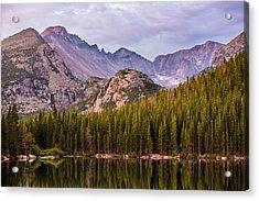 Purple Mountains' Majesty Acrylic Print by Adam Pender