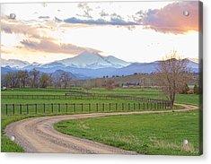 Longs Peak Springtime Sunset View  Acrylic Print by James BO  Insogna