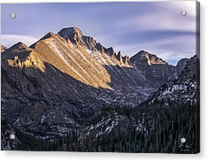 Longs Peak Sunset Acrylic Print by Aaron Spong