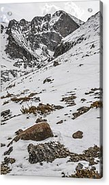 Longs Peak -  Vertical Acrylic Print by Aaron Spong