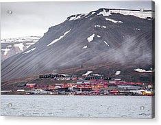 Longyearbyen Acrylic Print by Paul Williams