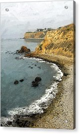 Looking North To The Lighthouse Acrylic Print by Ron Regalado