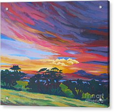Looking West From Amador Hills Acrylic Print by Vanessa Hadady BFA MA