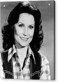 Loretta Lynn Smiling Acrylic Print by Retro Images Archive