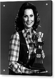 Loretta Lynn With Award Acrylic Print by Retro Images Archive