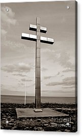 Lorraine Cross In Normandy Acrylic Print by Olivier Le Queinec