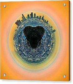 Love La Acrylic Print by Az Jackson