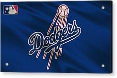 Los Angeles Dodgers Uniform Acrylic Print by Joe Hamilton