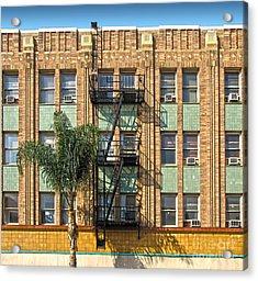 Los Angeles Facade Acrylic Print by Gregory Dyer