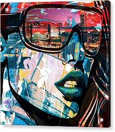 Los Angeles Skyline Acrylic Print by Corporate Art Task Force