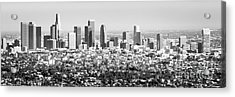Los Angeles Skyline Panorama Photo Acrylic Print by Paul Velgos