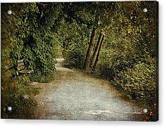 Lost Lagoon Path Acrylic Print by Maria Angelica Maira