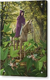 Lost Princess On Horseback Acrylic Print by Martin Davey
