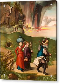 Lot And His Daughters Acrylic Print by Mountain Dreams